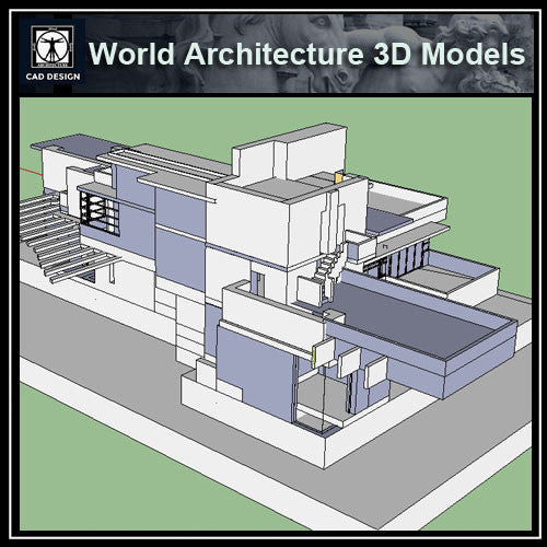 Sketchup 3D Architecture models-  Cascade house 3d