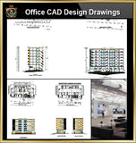★【Office, Commercial building, mixed business building CAD Design Project V.8】@Autocad Blocks,Drawings,CAD Details,Elevation