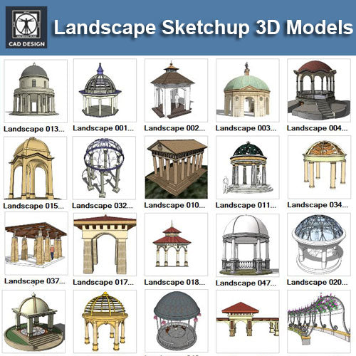European Pavilion 3D Models-Sketchup 3D Models - CAD Design | Download CAD Drawings | AutoCAD Blocks | AutoCAD Symbols | CAD Drawings | Architecture Details│Landscape Details | See more about AutoCAD, Cad Drawing and Architecture Details