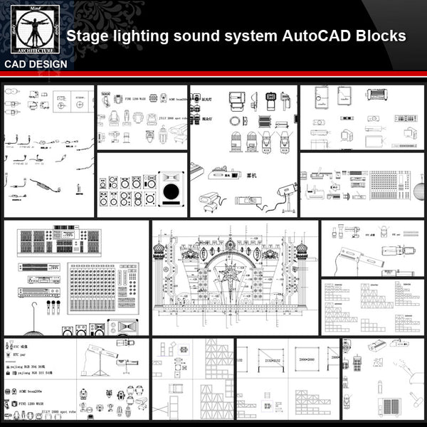 ★【State lighting sound system Autocad Blocks Collections】All kinds of State lighting CAD Drawings - CAD Design | Download CAD Drawings | AutoCAD Blocks | AutoCAD Symbols | CAD Drawings | Architecture Details│Landscape Details | See more about AutoCAD, Cad Drawing and Architecture Details