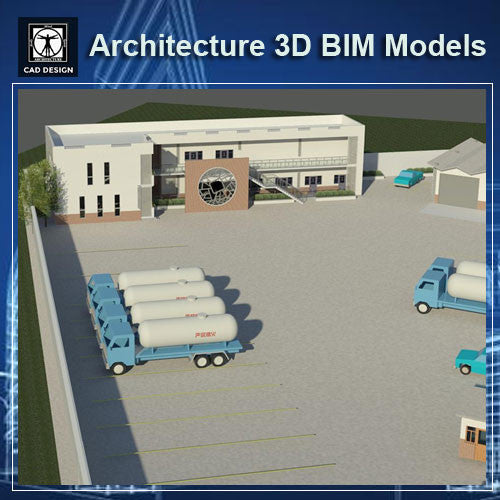 Gas Station- BIM 3D Models