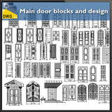 Main door blocks and design