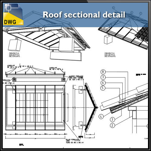 Roof Sectional Detail Cad Drawing – CAD Design