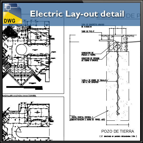Electric Lay-out detail in cad file