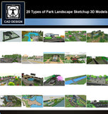 【Sketchup 3D Models】20 Types of Park Landscape Sketchup 3D Models  V.1 - CAD Design | Download CAD Drawings | AutoCAD Blocks | AutoCAD Symbols | CAD Drawings | Architecture Details│Landscape Details | See more about AutoCAD, Cad Drawing and Architecture Details
