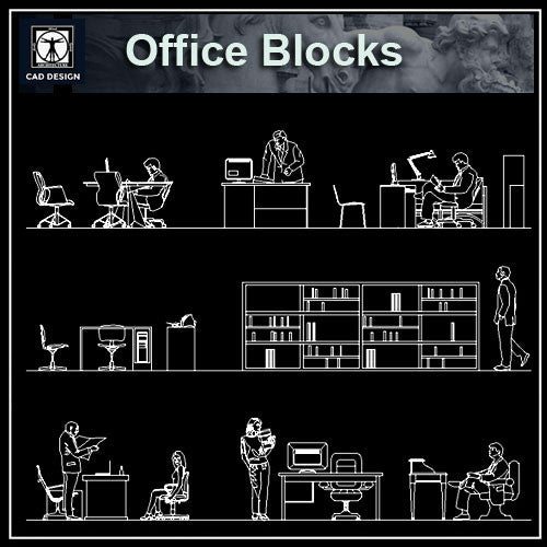 Free Cad Blocks: Office Blocks And Plans – CAD Design