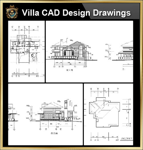 ★【Villa CAD Design,Details Project V.16】Chateau,Manor,Mansion,Villa@Autocad Blocks,Drawings,CAD Details,Elevation - CAD Design | Download CAD Drawings | AutoCAD Blocks | AutoCAD Symbols | CAD Drawings | Architecture Details│Landscape Details | See more about AutoCAD, Cad Drawing and Architecture Details