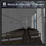 Sketchup 3D Architecture models- Church of Light (Tadao Ando )