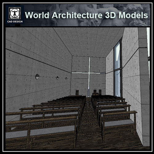 Sketchup 3D Architecture models- Church of Light (Tadao Ando ) - CAD Design | Download CAD Drawings | AutoCAD Blocks | AutoCAD Symbols | CAD Drawings | Architecture Details│Landscape Details | See more about AutoCAD, Cad Drawing and Architecture Details