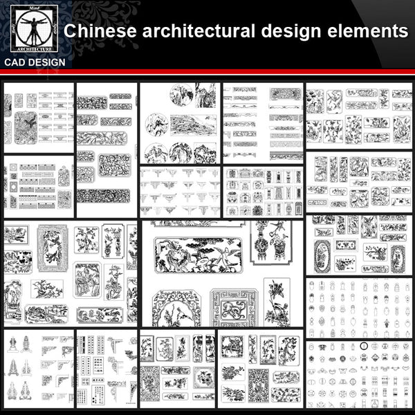 ★【Full Chinese Architecture Design CAD elements】All kinds of Chinese Architectural CAD Drawings Bundle - CAD Design | Download CAD Drawings | AutoCAD Blocks | AutoCAD Symbols | CAD Drawings | Architecture Details│Landscape Details | See more about AutoCAD, Cad Drawing and Architecture Details