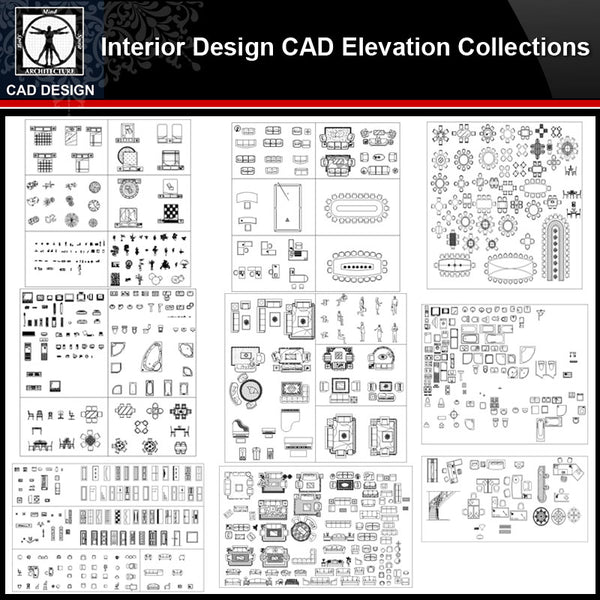 ★【Interior Design Cabinet Facade Autocad Drawings】Cabinet CAD Elevation Bundle - CAD Design | Download CAD Drawings | AutoCAD Blocks | AutoCAD Symbols | CAD Drawings | Architecture Details│Landscape Details | See more about AutoCAD, Cad Drawing and Architecture Details
