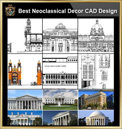 ★【Best Neoclassical Style Decor CAD Design Elements Collection】Neoclassical interior, Home decor,Traditional home decorating,Decoration