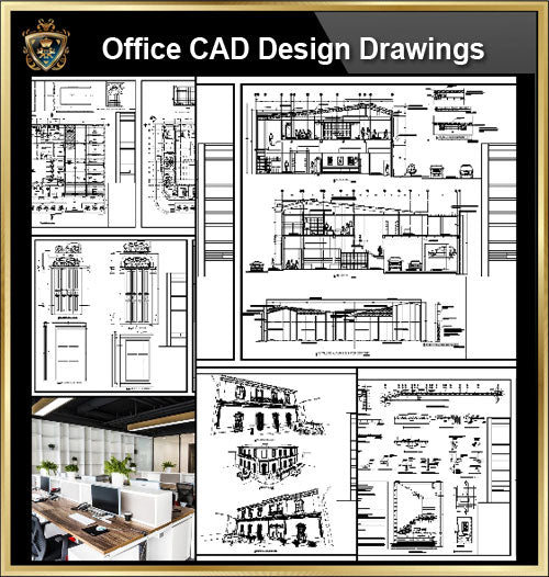 ★【Office, Commercial building, mixed business building CAD Design Project V.5】@Autocad Blocks,Drawings,CAD Details,Elevation