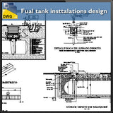 Fual tank insttalations design and detail guide in autocad dwg files - CAD Design | Download CAD Drawings | AutoCAD Blocks | AutoCAD Symbols | CAD Drawings | Architecture Details│Landscape Details | See more about AutoCAD, Cad Drawing and Architecture Details