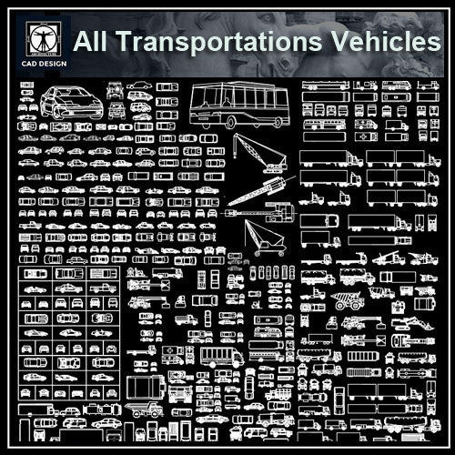 All Transportations Vehicles Lorries Blocks