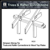 Free CAD Details-Truss & Rafter Connections (Iso) - CAD Design | Download CAD Drawings | AutoCAD Blocks | AutoCAD Symbols | CAD Drawings | Architecture Details│Landscape Details | See more about AutoCAD, Cad Drawing and Architecture Details
