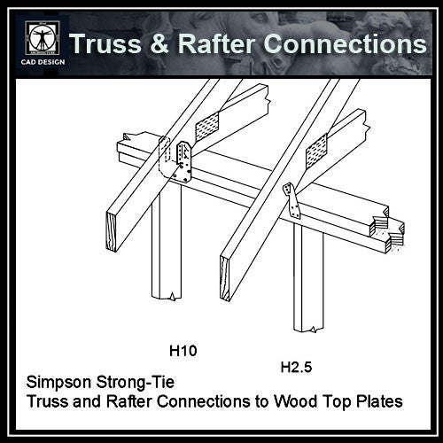 Free CAD Details-Truss & Rafter Connections (Iso)