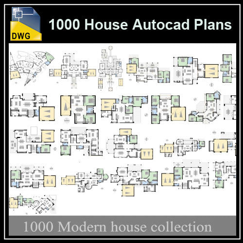 1000 Types of House Autocad Plans (Best Recommanded!!) - CAD Design | Download CAD Drawings | AutoCAD Blocks | AutoCAD Symbols | CAD Drawings | Architecture Details│Landscape Details | See more about AutoCAD, Cad Drawing and Architecture Details