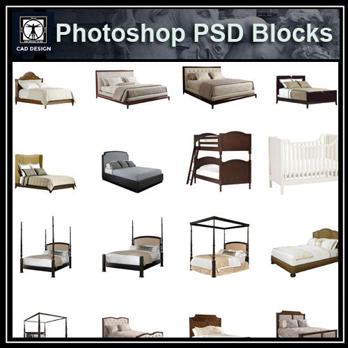 Photoshop PSD Bed Blocks V3