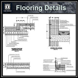 Free CAD Details-Flooring Details - CAD Design | Download CAD Drawings | AutoCAD Blocks | AutoCAD Symbols | CAD Drawings | Architecture Details│Landscape Details | See more about AutoCAD, Cad Drawing and Architecture Details