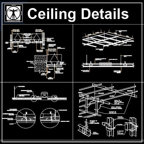 Ceiling Details V1 - CAD Design | Download CAD Drawings | AutoCAD Blocks | AutoCAD Symbols | CAD Drawings | Architecture Details│Landscape Details | See more about AutoCAD, Cad Drawing and Architecture Details