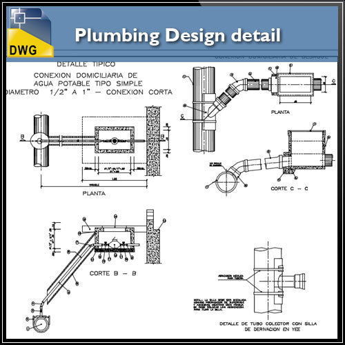 Plumbing Design in autocad dwg files - CAD Design | Download CAD Drawings | AutoCAD Blocks | AutoCAD Symbols | CAD Drawings | Architecture Details│Landscape Details | See more about AutoCAD, Cad Drawing and Architecture Details