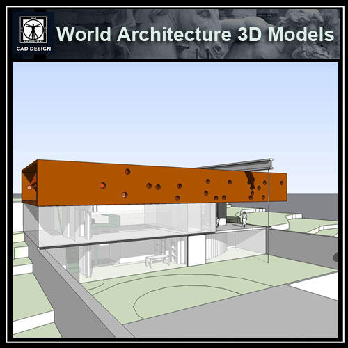 Sketchup 3D Architecture models- Maison à Bordeaux (Rem Koolhaas ) - CAD Design | Download CAD Drawings | AutoCAD Blocks | AutoCAD Symbols | CAD Drawings | Architecture Details│Landscape Details | See more about AutoCAD, Cad Drawing and Architecture Details