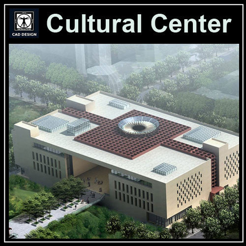Cutural Center Cad Drawings 3 - CAD Design | Download CAD Drawings | AutoCAD Blocks | AutoCAD Symbols | CAD Drawings | Architecture Details│Landscape Details | See more about AutoCAD, Cad Drawing and Architecture Details