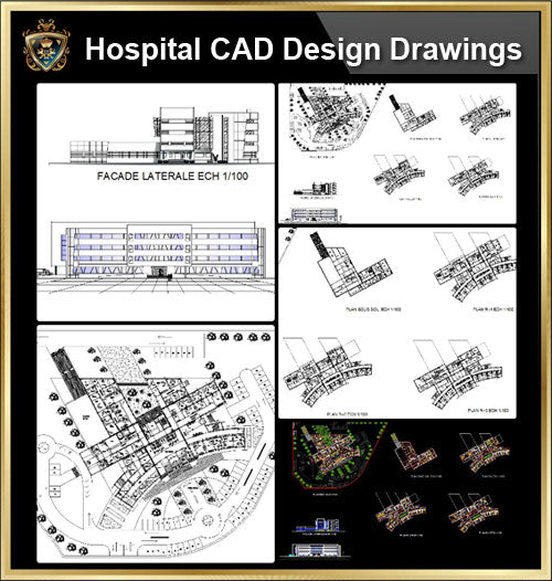 ★【Hospital design,Treatment room CAD Design Drawings V.2】@Medical equipment, ward equipment-Autocad Blocks,Drawings,CAD Details,Elevation