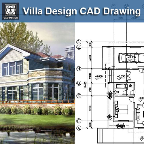 Villa Design CAD Drawings V16 - CAD Design | Download CAD Drawings | AutoCAD Blocks | AutoCAD Symbols | CAD Drawings | Architecture Details│Landscape Details | See more about AutoCAD, Cad Drawing and Architecture Details