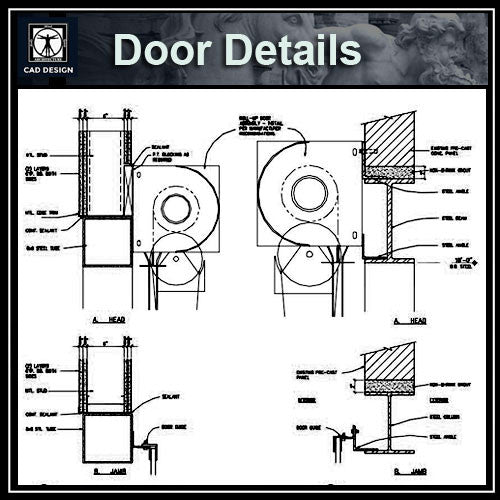 Free CAD Details- Door Details - CAD Design | Download CAD Drawings | AutoCAD Blocks | AutoCAD Symbols | CAD Drawings | Architecture Details│Landscape Details | See more about AutoCAD, Cad Drawing and Architecture Details