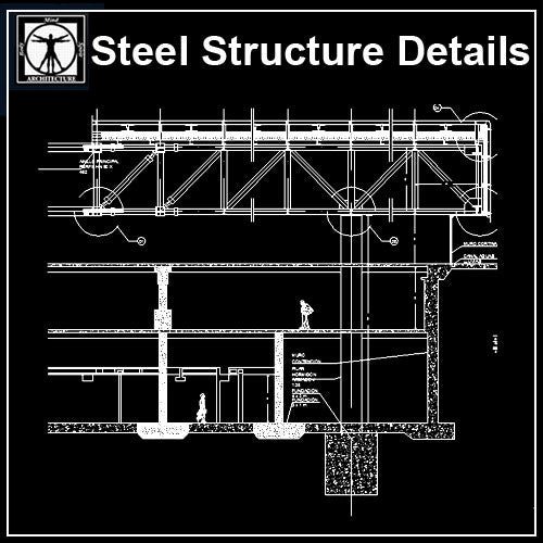 Steel Structure Details V5 - CAD Design | Download CAD Drawings | AutoCAD Blocks | AutoCAD Symbols | CAD Drawings | Architecture Details│Landscape Details | See more about AutoCAD, Cad Drawing and Architecture Details