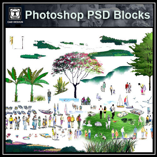 Hand-painted PSD Landscape elevation 2 - CAD Design | Download CAD Drawings | AutoCAD Blocks | AutoCAD Symbols | CAD Drawings | Architecture Details│Landscape Details | See more about AutoCAD, Cad Drawing and Architecture Details