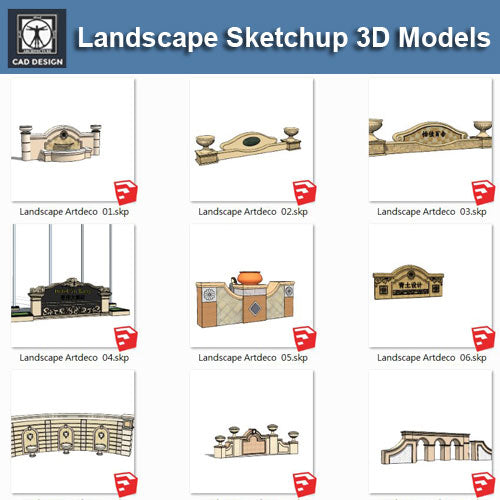 ArtDeco Landscape-Sketchup 3D Models(Best Recommanded!!) - CAD Design | Download CAD Drawings | AutoCAD Blocks | AutoCAD Symbols | CAD Drawings | Architecture Details│Landscape Details | See more about AutoCAD, Cad Drawing and Architecture Details
