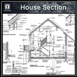 CAD Details Collection-House Section