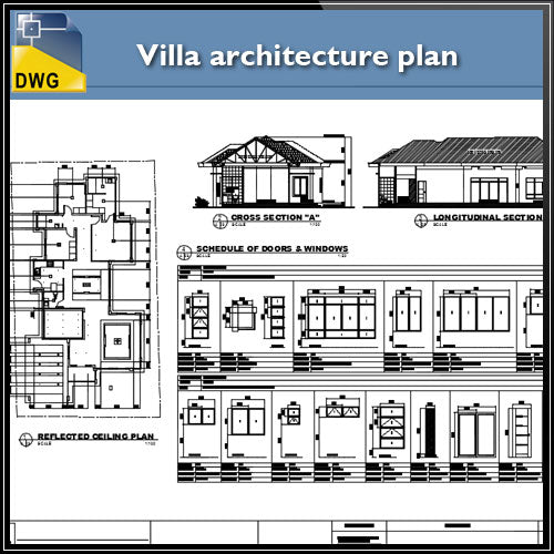 Villa architecture plan and constructions detail - CAD Design | Download CAD Drawings | AutoCAD Blocks | AutoCAD Symbols | CAD Drawings | Architecture Details│Landscape Details | See more about AutoCAD, Cad Drawing and Architecture Details