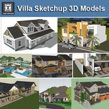 【Download 13 Types of Villa Sketchup 3D Models】 (Recommanded!!)