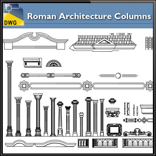 Free Roman Architecture Columns Blocks