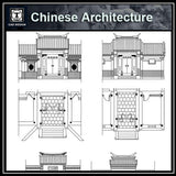 Chinese Architecture CAD Drawing-Chinese Gate Design - CAD Design | Download CAD Drawings | AutoCAD Blocks | AutoCAD Symbols | CAD Drawings | Architecture Details│Landscape Details | See more about AutoCAD, Cad Drawing and Architecture Details