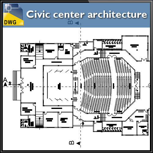 Civil center architecture projects detail - CAD Design | Download CAD Drawings | AutoCAD Blocks | AutoCAD Symbols | CAD Drawings | Architecture Details│Landscape Details | See more about AutoCAD, Cad Drawing and Architecture Details