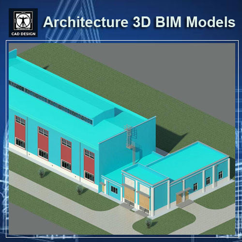 Factory Building- BIM 3D Models - CAD Design | Download CAD Drawings | AutoCAD Blocks | AutoCAD Symbols | CAD Drawings | Architecture Details│Landscape Details | See more about AutoCAD, Cad Drawing and Architecture Details