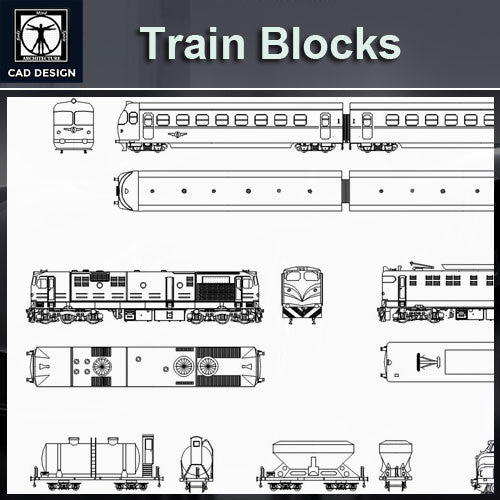 Free Train Blocks - CAD Design | Download CAD Drawings | AutoCAD Blocks | AutoCAD Symbols | CAD Drawings | Architecture Details│Landscape Details | See more about AutoCAD, Cad Drawing and Architecture Details