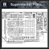 Supermarket Plans - CAD Design | Download CAD Drawings | AutoCAD Blocks | AutoCAD Symbols | CAD Drawings | Architecture Details│Landscape Details | See more about AutoCAD, Cad Drawing and Architecture Details
