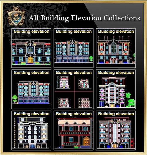 【All Building Elevation CAD Drawing Collections】(Best Collections!!) - CAD Design | Download CAD Drawings | AutoCAD Blocks | AutoCAD Symbols | CAD Drawings | Architecture Details│Landscape Details | See more about AutoCAD, Cad Drawing and Architecture Details