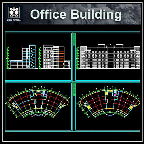Office Building  Cad Drawings