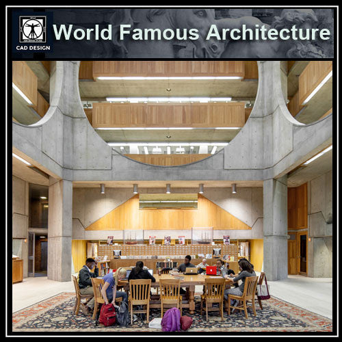 Exeter Library - Louis Kahn - CAD Design | Download CAD Drawings | AutoCAD Blocks | AutoCAD Symbols | CAD Drawings | Architecture Details│Landscape Details | See more about AutoCAD, Cad Drawing and Architecture Details