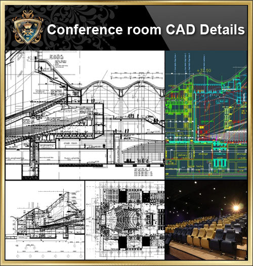 ★【Conference Room CAD Details 】@Conference Room Design,Autocad Blocks,Conference Room Details,Conference Room Section,elevation design drawings