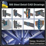 Over 500+ various type of Steel Structure Details CAD Drawings - CAD Design | Download CAD Drawings | AutoCAD Blocks | AutoCAD Symbols | CAD Drawings | Architecture Details│Landscape Details | See more about AutoCAD, Cad Drawing and Architecture Details