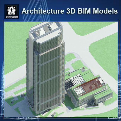 Skyscraper - BIM 3D Models - CAD Design | Download CAD Drawings | AutoCAD Blocks | AutoCAD Symbols | CAD Drawings | Architecture Details│Landscape Details | See more about AutoCAD, Cad Drawing and Architecture Details