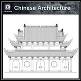 Chinese Architecture CAD Drawings-Stage, ancestral hall